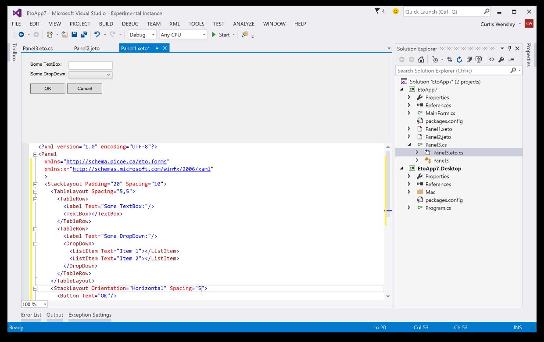 Visual Studio Designer