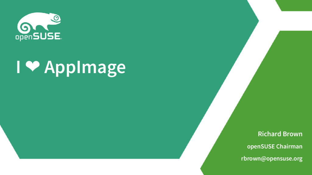 openSUSE chairman loves AppImage