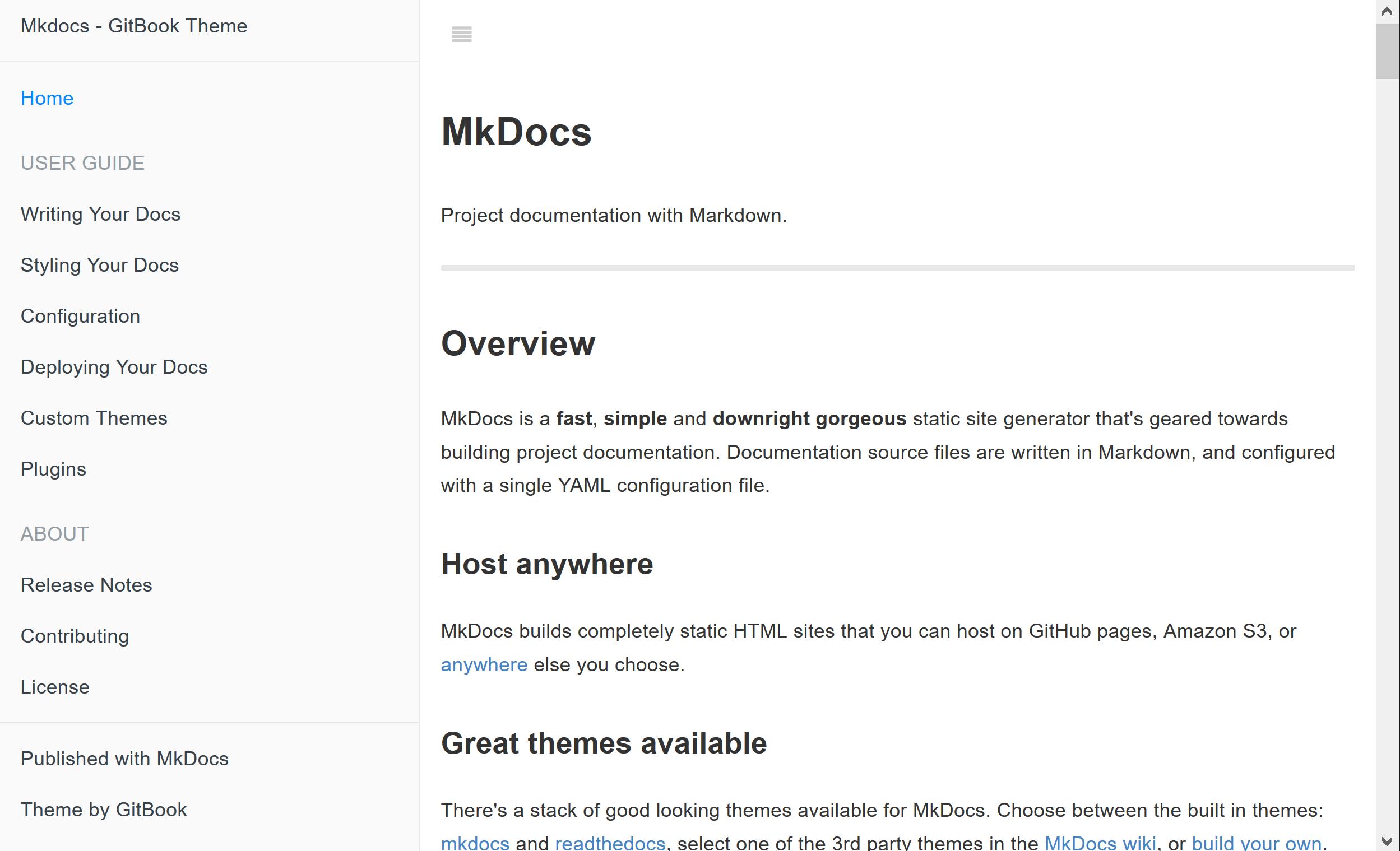 MkDocs Themes · mkdocs/mkdocs Wiki · GitHub