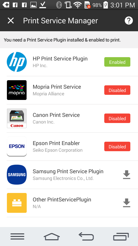 Print Service Plugin For Kitkat See Below Lollipop