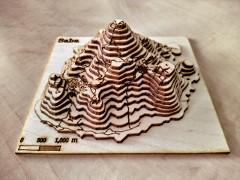 Saba 3D model in plywood