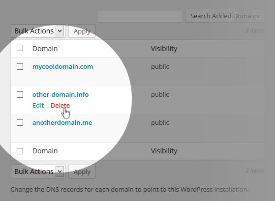 Multi-Domains Delete