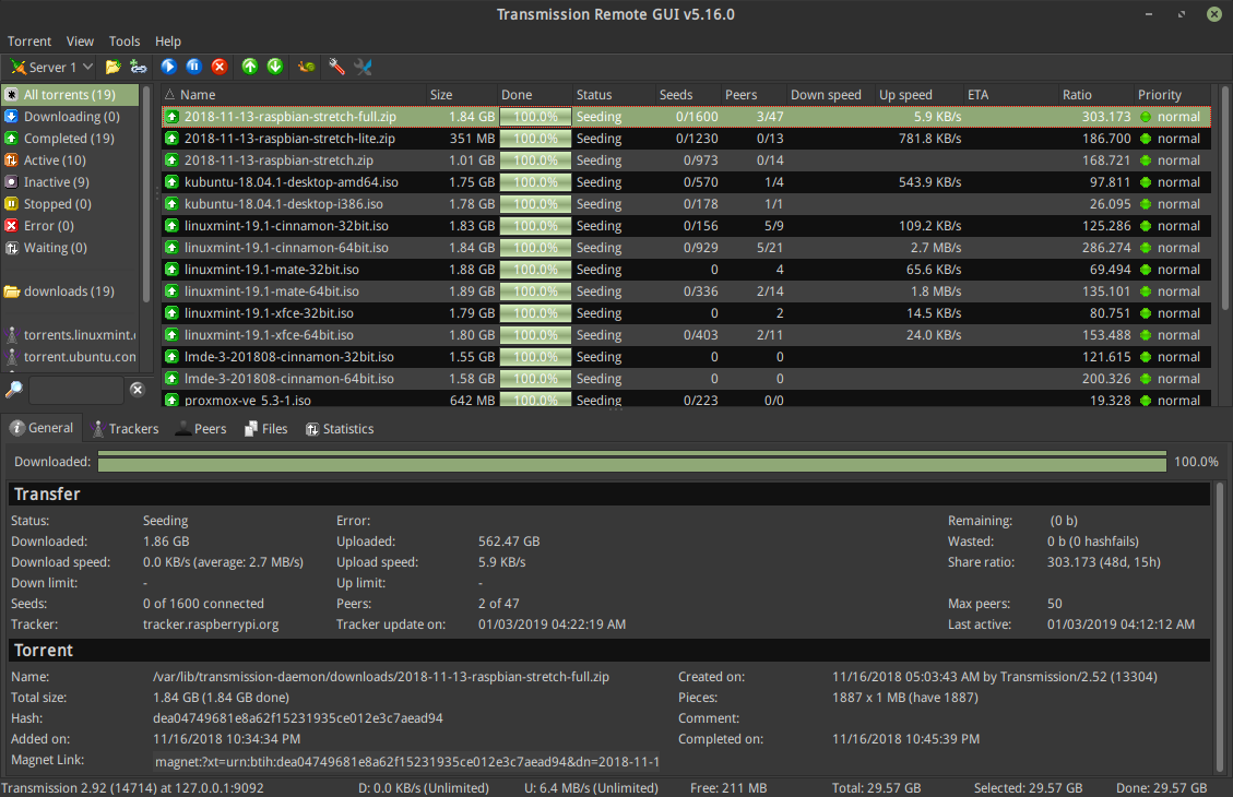 GitHub - transmission-remote-gui/transgui: 🧲 A feature rich cross