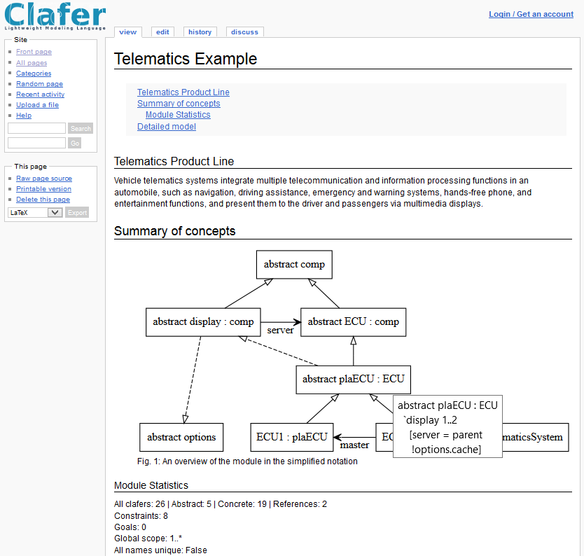 Telematics Example, Module Overview