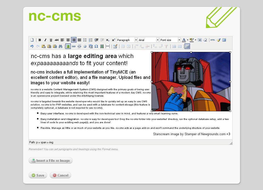 nc-cms Screenshot 3