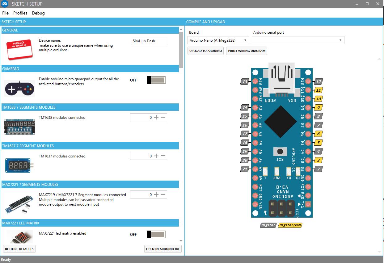 Arduino Setup · zegreatclan/SimHub Wiki · GitHub