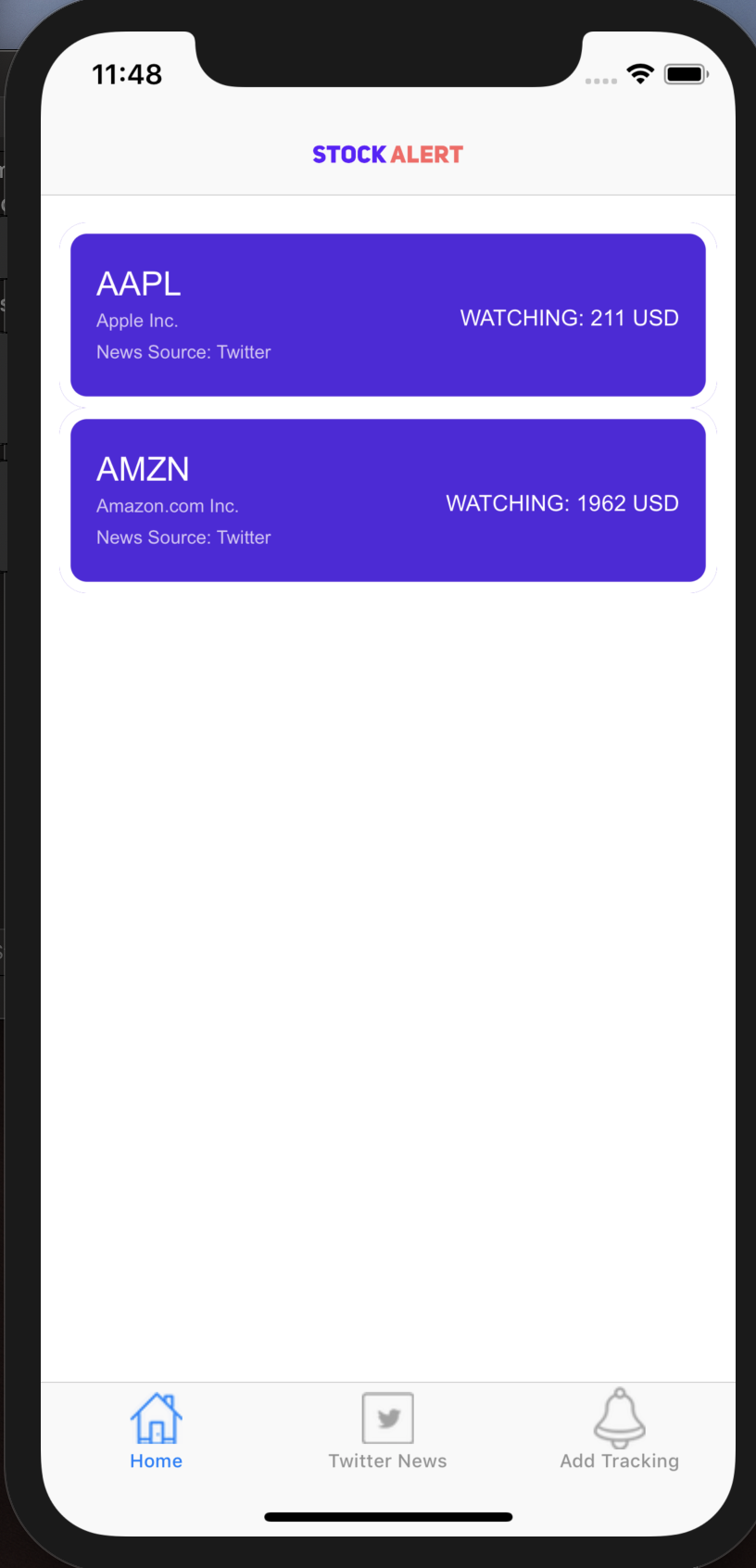 User homepage