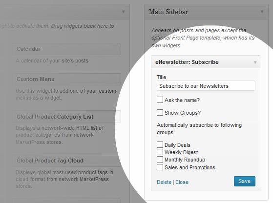 e-Newsletter Subscribe Widget