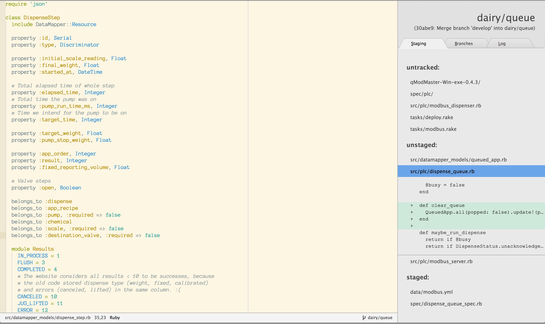 screenshot: file list
