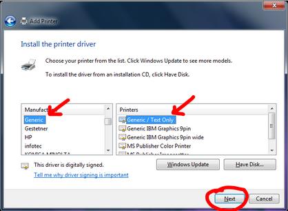 Setting up Raw Printing in Windows 7 · five23/shipsync