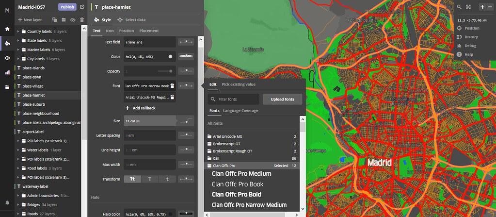 editando en MapBox
