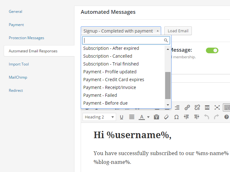 M2 Additional Automated Emails