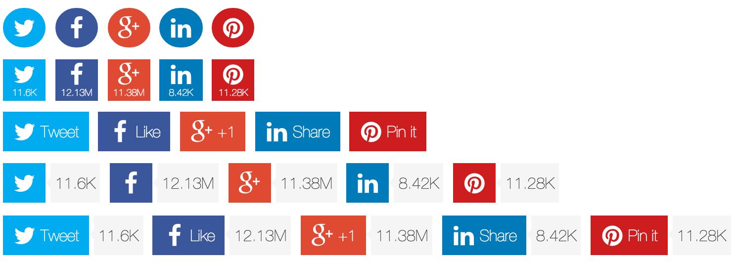 GitHub - tabalinas/jssocials: Social Network Sharing jQuery