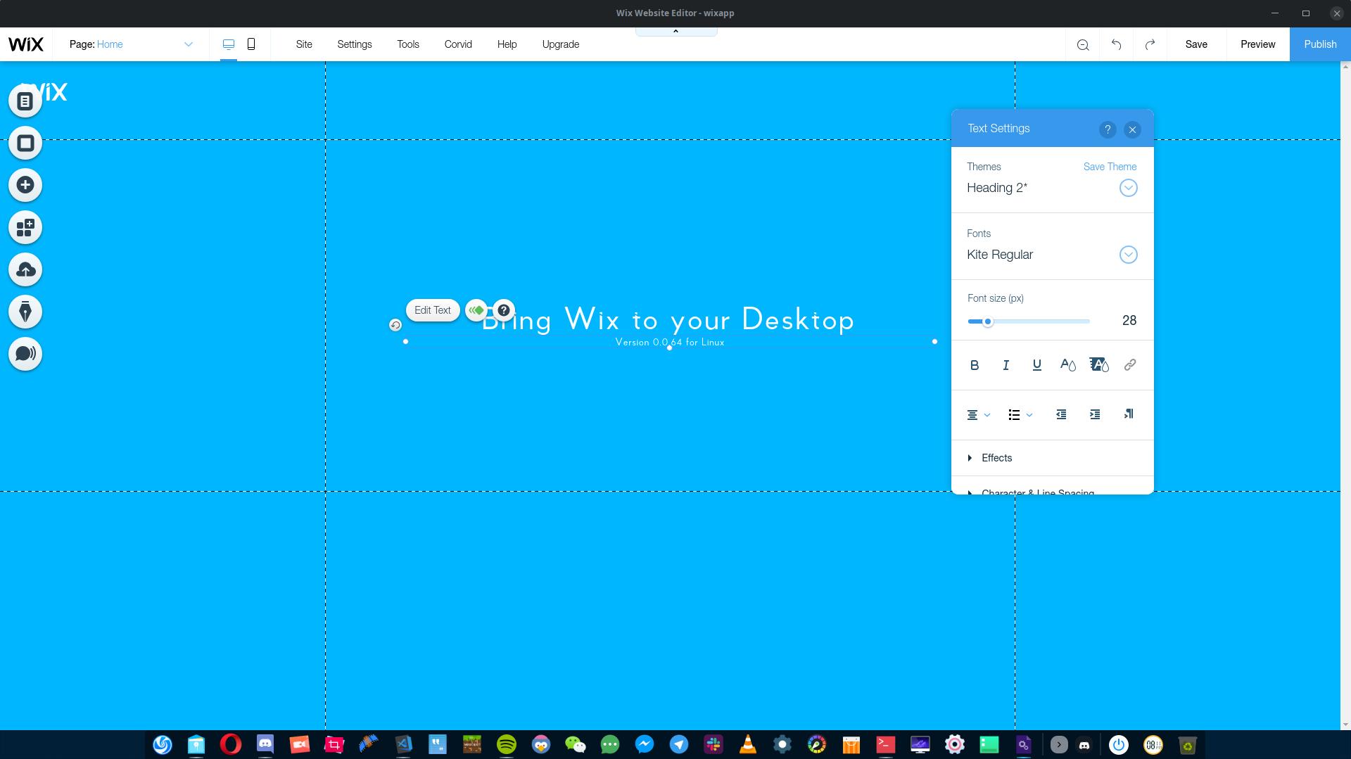 Wix Desktop – Korbs Studio's Blog