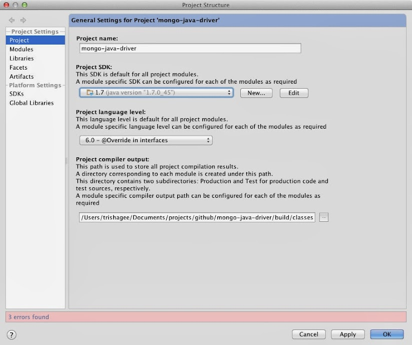 Select Java 7 SDK