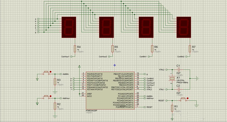 GitHub - Hollweg/7-Segments-Clock: 7 Segments Clock project (HW & SW