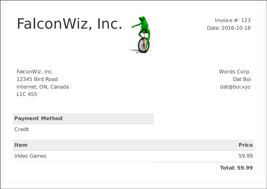 GitHub   FalconWiz/falcon Invoice: Generate PDF Invoices Using ...  Invoice Pdf Generator