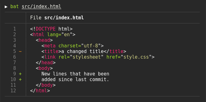 Git integration example