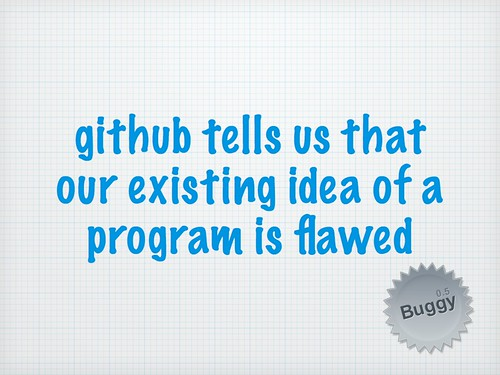 Github tells us that our existing idea of a program is flawed