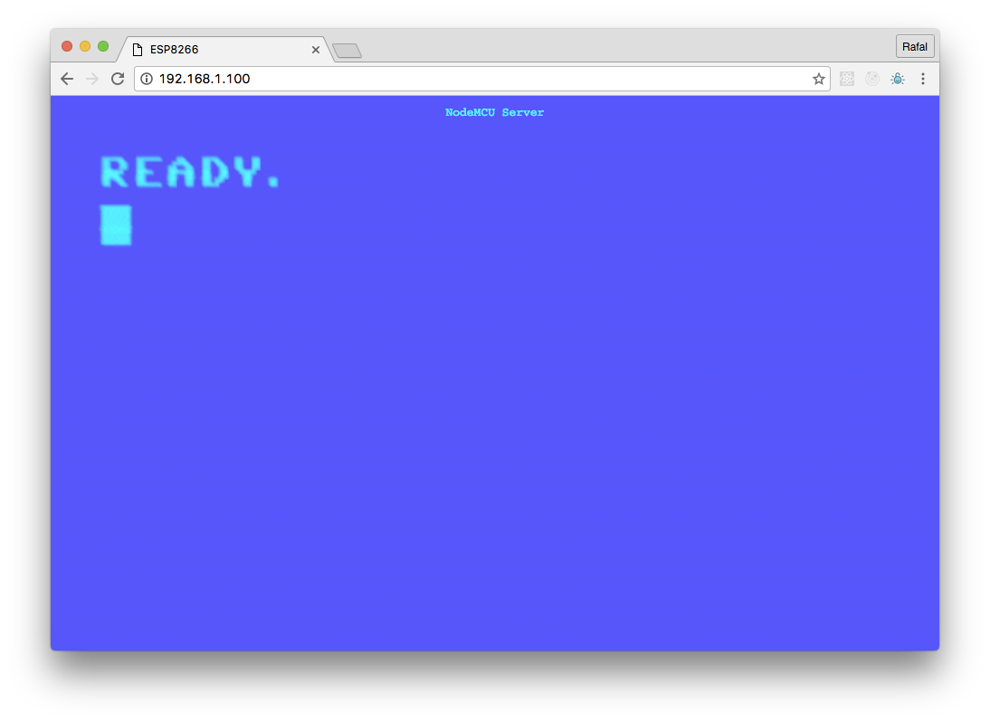 NodeMCU WebServer Preview