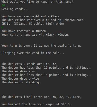 Dealer Actions Screenshot