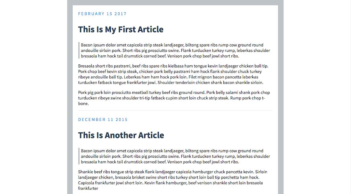 CSS Blog