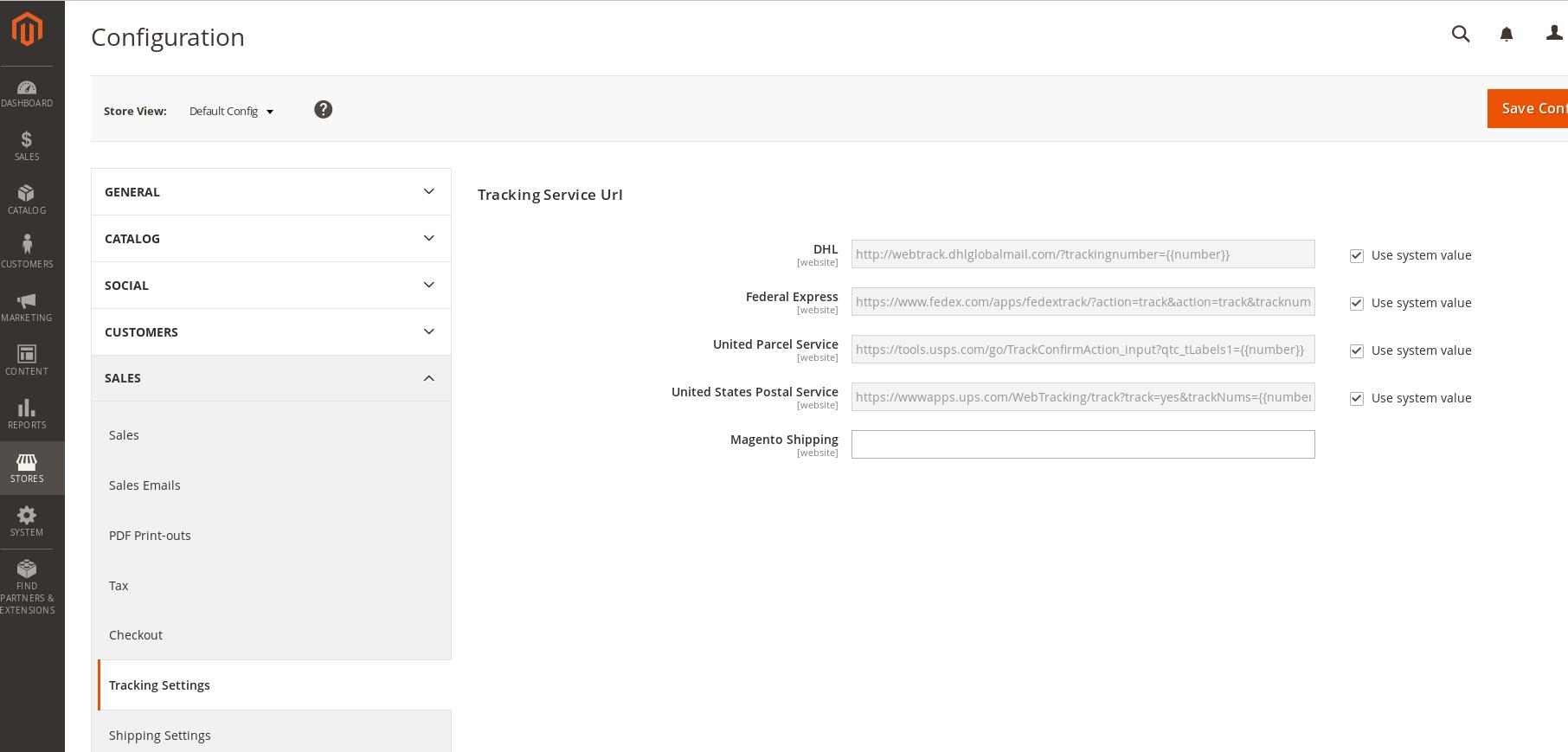 Magento2 Tracking Link