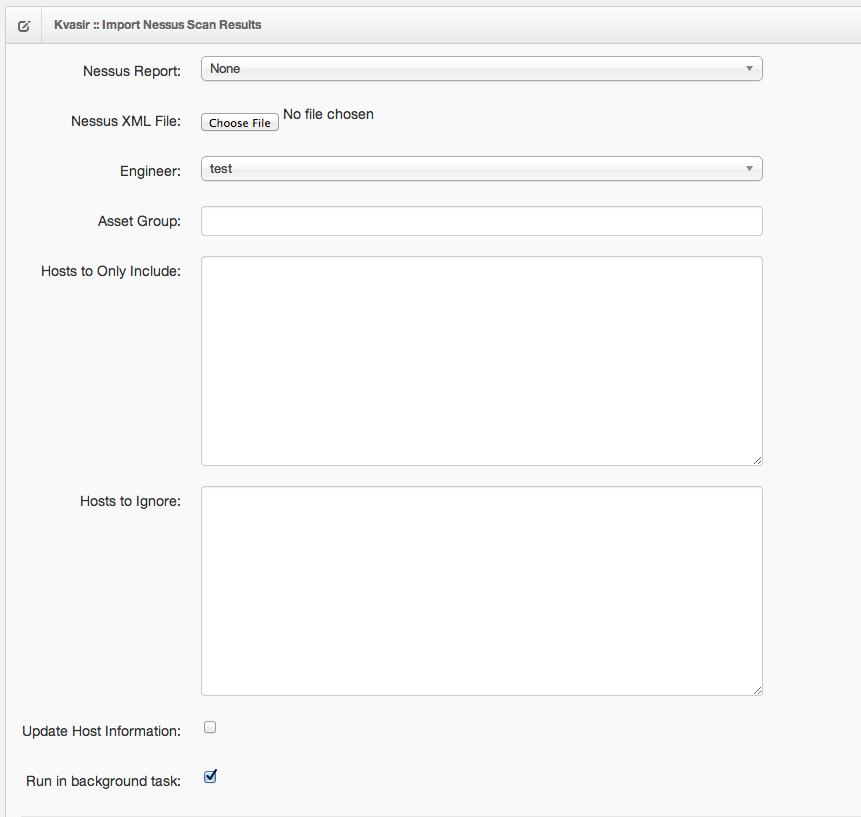 Nessus support · KvasirSecurity/Kvasir Wiki · GitHub