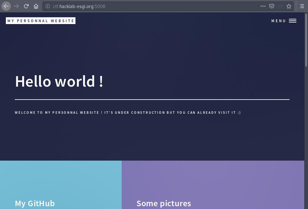 Page d'accueil ZedCorp