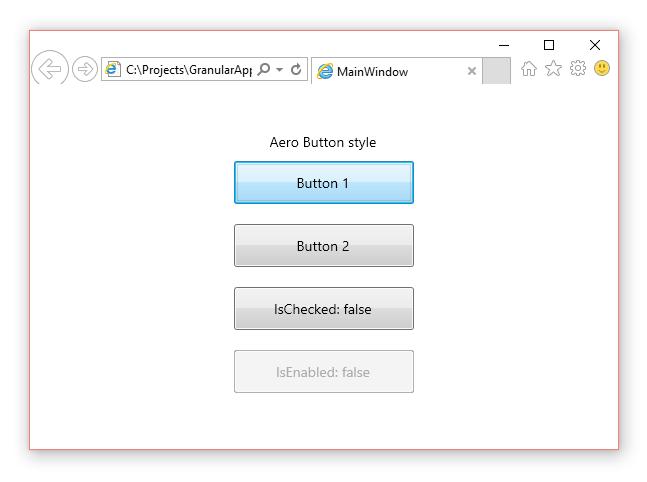 Web application window