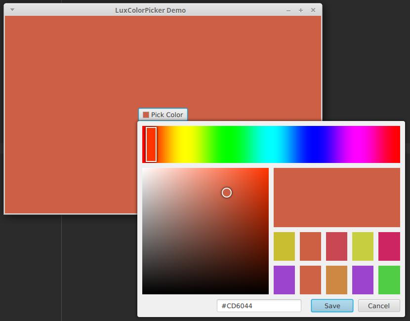 LuxColorPicker demo