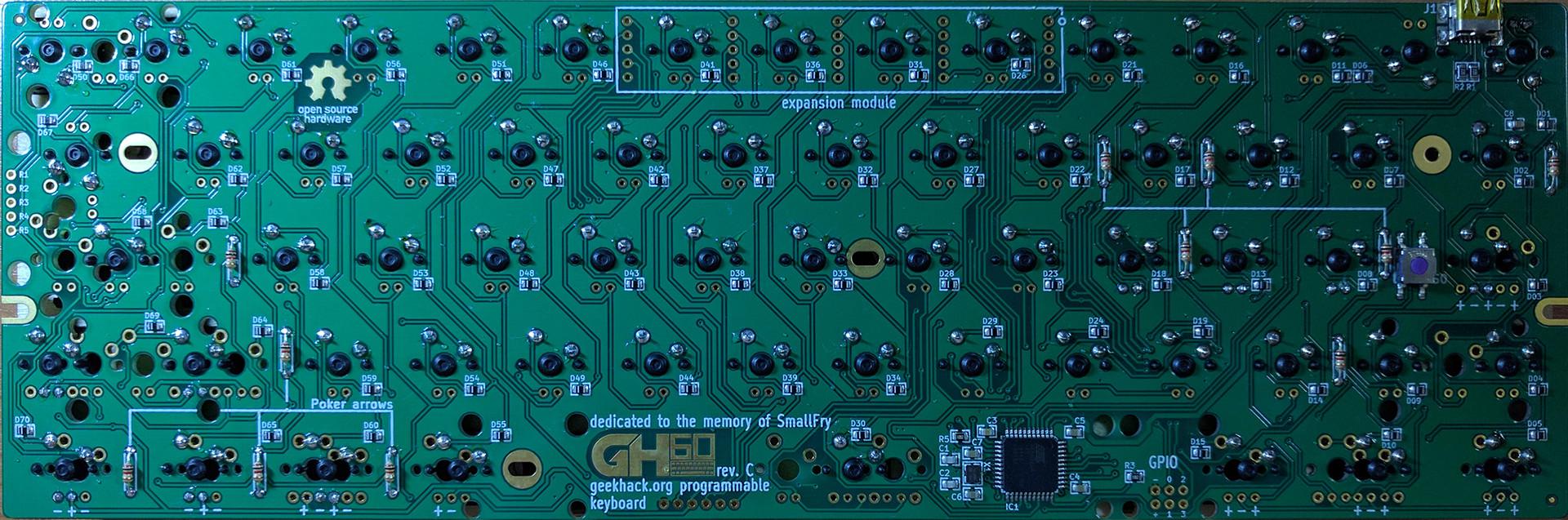 gh60 Rev C PCB