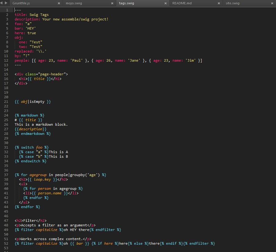 GitHub - jonschlinkert/sublime-swig: Swig template syntax ...