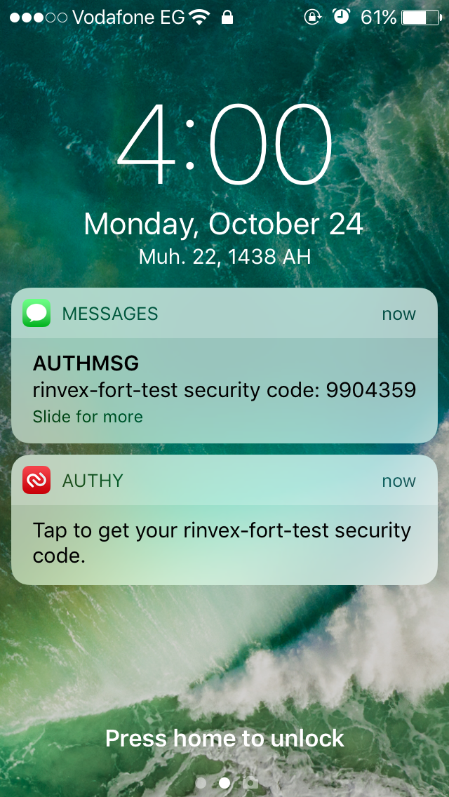 Authy Notifications
