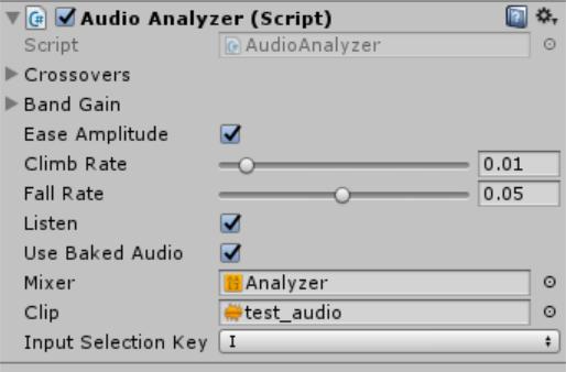 AudioAnalyzer Inspector