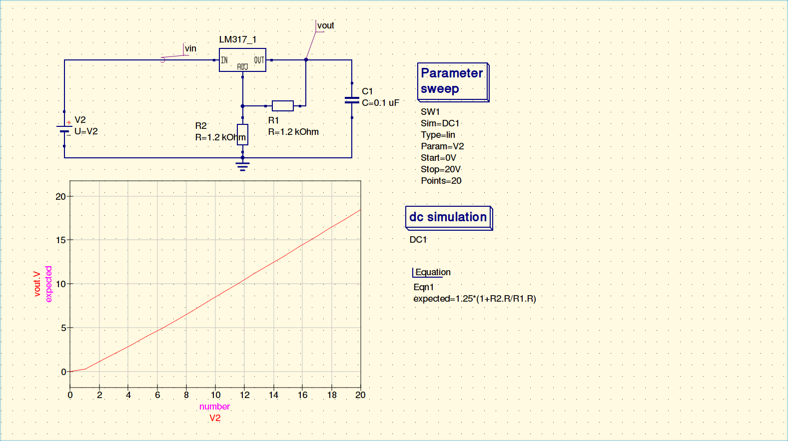 LM317 models not working as expected · Issue #367 · Qucs