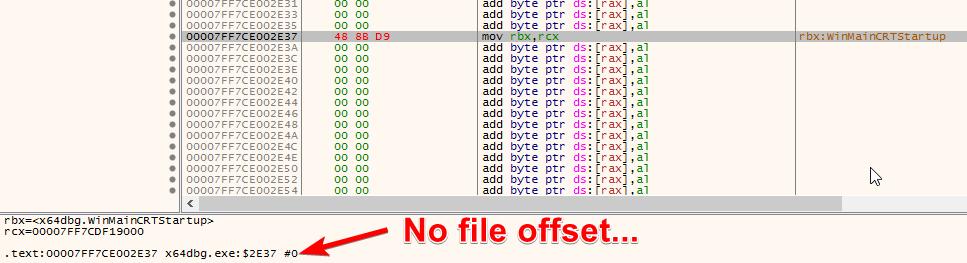 no file offset