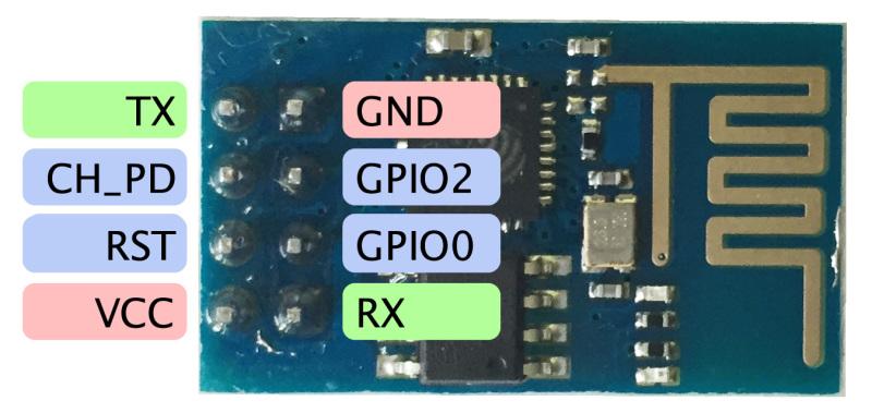ESP8266-01 Pinout