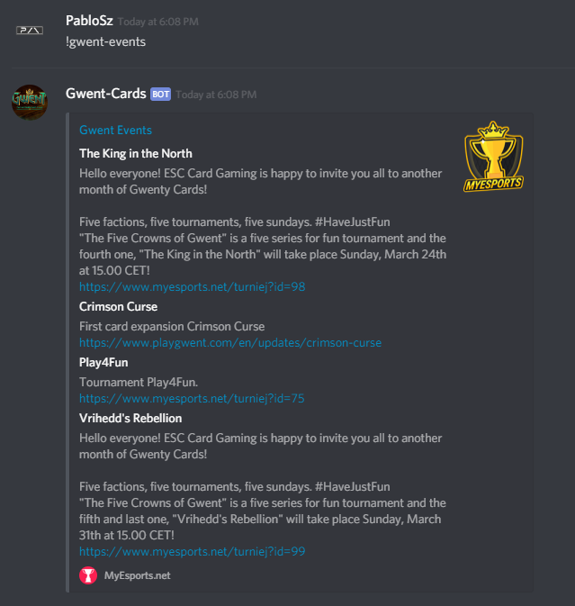 PabloSzx/Gwent-Cards: Discord Bot Designed For