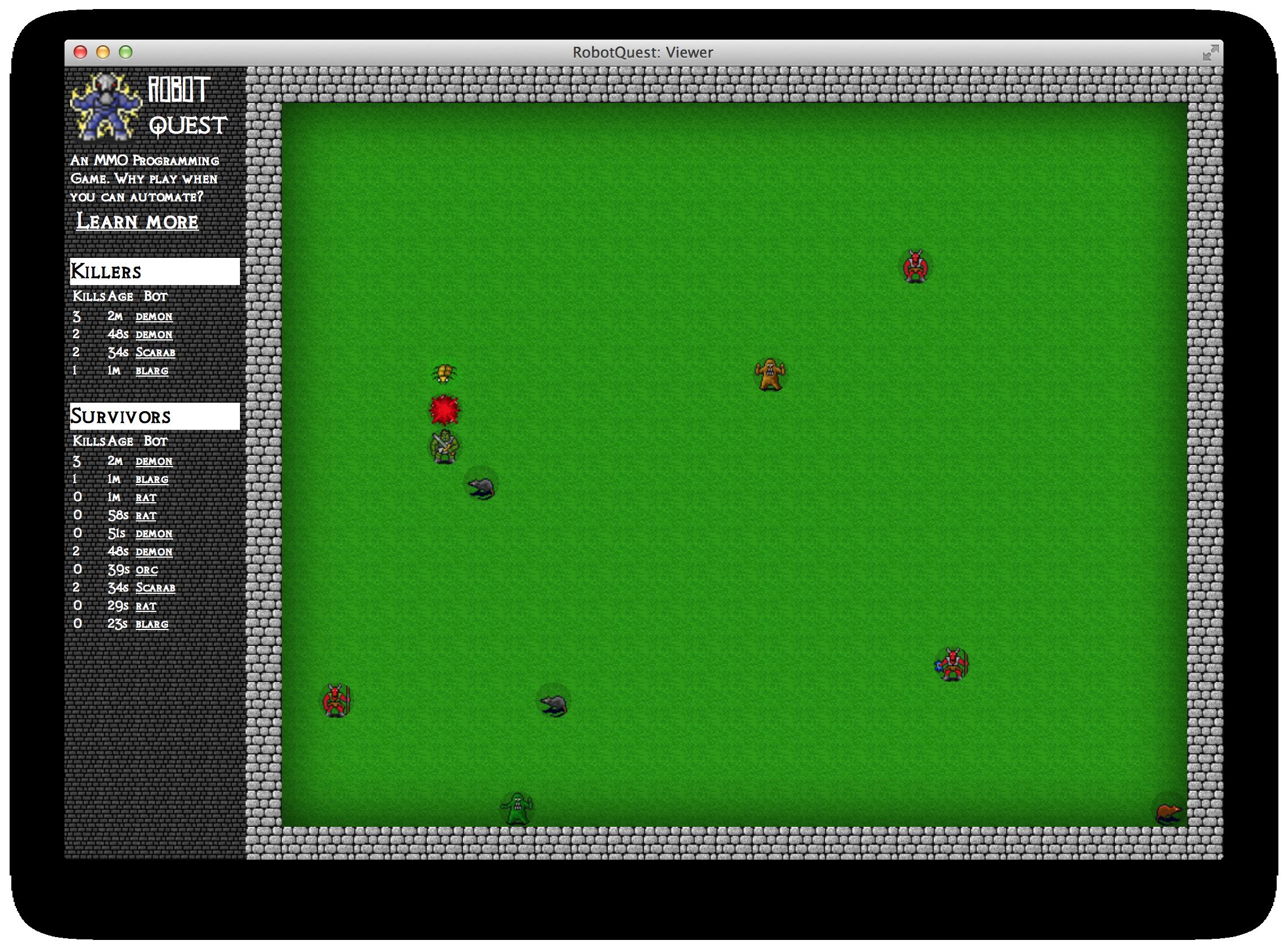 GitHub - seanhess/robotquest: RobotQuest is a MMO, programming game