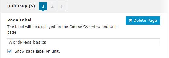 CoursePress - Course - Units - Unit Pages