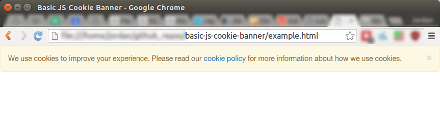 JS Cookie Banner (implied consent)