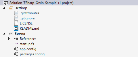 F# Owin Sample Project