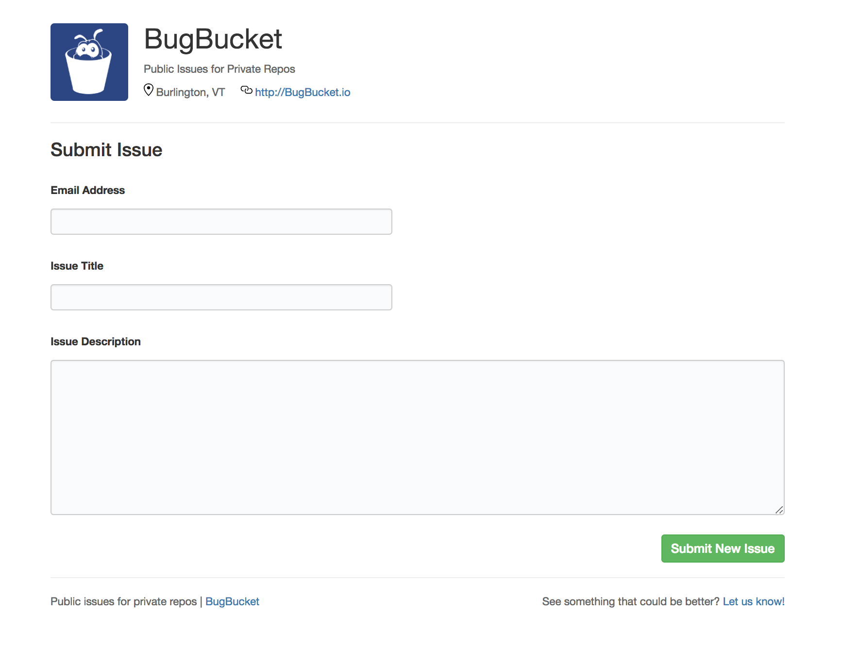 BugBucket screenshot