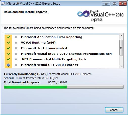Visual C++ 2010 installer