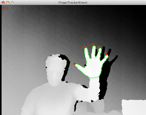 Finger Tracking with the Kinect, Processing, and Marching Squares