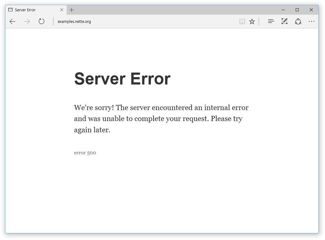 Server Error 500