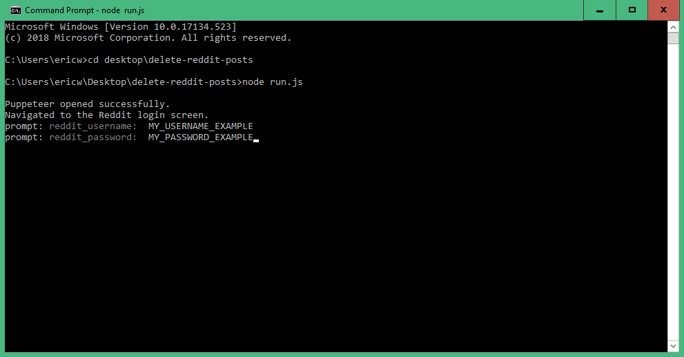 command prompt example 2