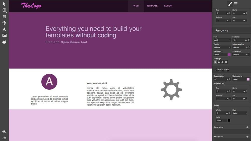 ISCIncgrapesjs Librariesio - Open source website templates